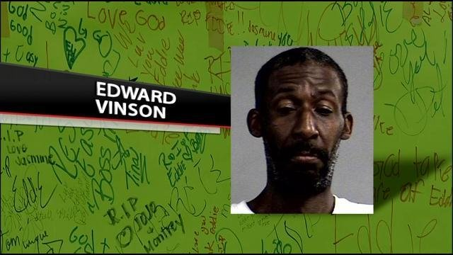 Edward Vinson was beaten and set on fire on June 7 not far from his home on Elliott Avenue.