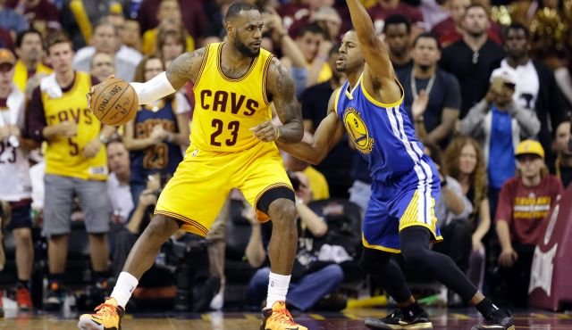 LeBron James in isolation -- these plays have made up nearly a third of Cleveland's offense in the NBA playoffs. (AP photo)