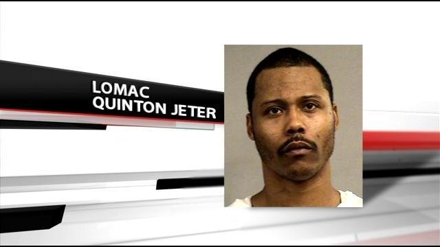 Lomac Jeter is accused of assaulting his girlfriend, Jasmine Stone.