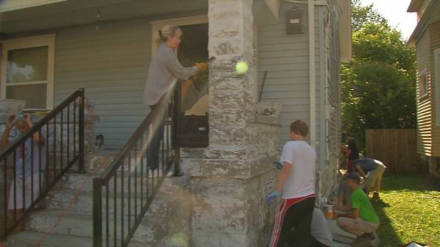Volunteers made repairs to dozens of homes for low-income elderly and disabled people.