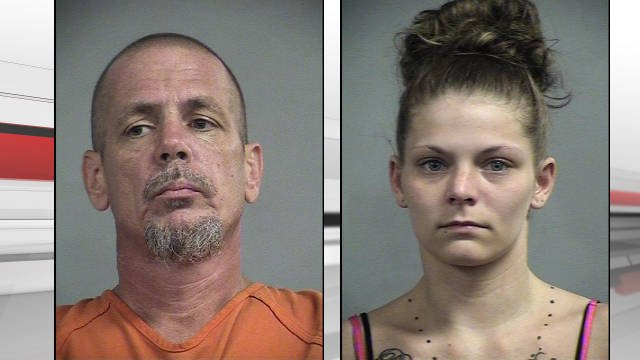 Todd Byrd (left) and Monica Mudd (right) have been arrested for the murder of Meagan Hassler (Source: Metro Corrections).