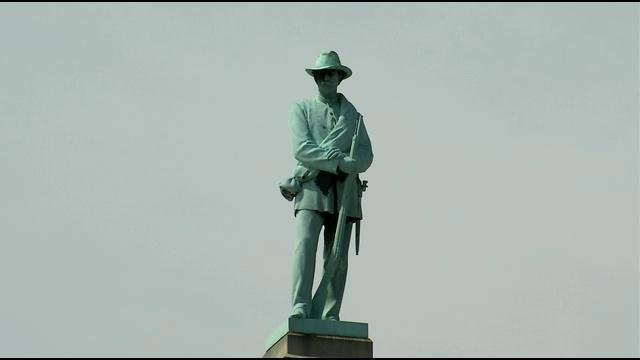 Erected in 1895, the 70-foot tall Confederate Memorial stands in the middle of one of U of L's busiest intersections.