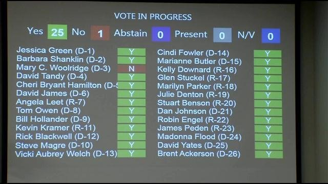 The budget passed the council in a 25-1 vote. Councilwoman Mary Woolridge was the only nay vote.