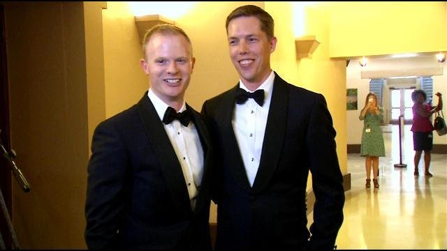 Benjamin Moore and Tadd Roberts were the first same-sex couple to get married in Louisville.