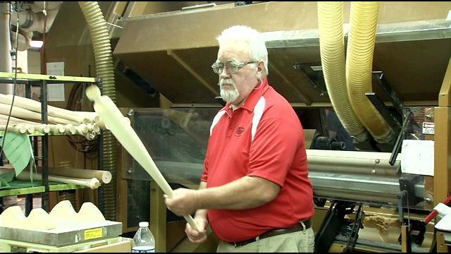 Louisville Slugger's master bat craftsman Danny Luckett.