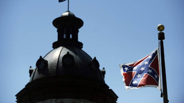 A Confederate flag flies near the South Carolina Statehouse in Columbia, S.C. THE ASSOCIATED PRESS