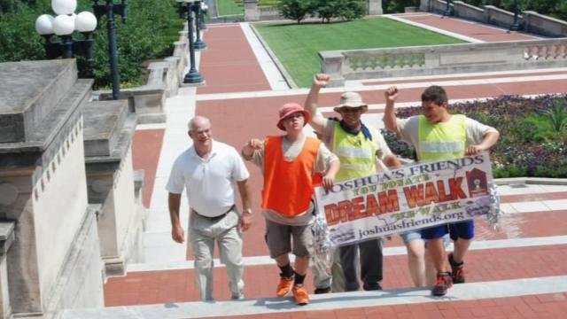 Two years ago, the pair walked a 98-mile stretch from their home to the Kentucky Capitol building.