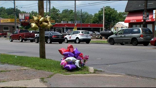 Police say 19-year-old Deniesha Pugh was hit by a car heading east at 26th and Broadway and dragged a few blocks, but the car never stopped.