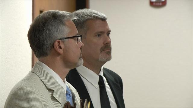 Brian Dell (center) appeared before Judge Katie King Tuesday morning.