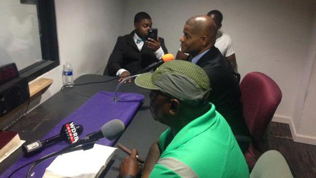 Jerald Muhammad spent time at WLOU and WLLV radio stations making a call for information.