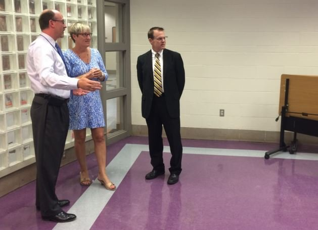JCPS early childhood education officials talk about their plans for the Presbyterian Community Center on July 1, 2015 (Photo by Toni Konz, WDRB News)