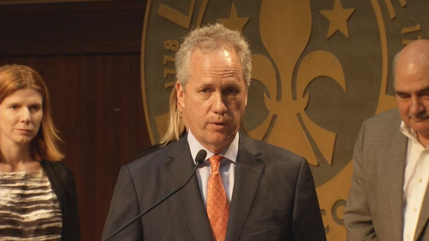 Mayor Greg Fischer addresses Humana sale