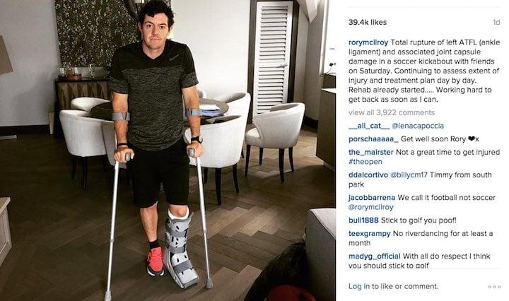 Rory McIlroy Instagram photo.
