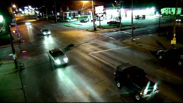 Police say this surveillance image shows the car that hit Doniesha Pugh.