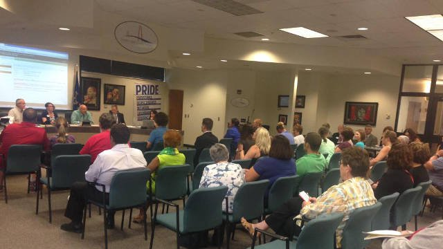A public hearing held Tuesday, July 7, for Greater Clark County Schools for $119 million facility improvement plan.