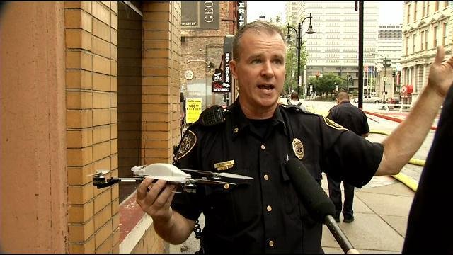 Major Jim Frederick explains how the department uses drones to help in their work.