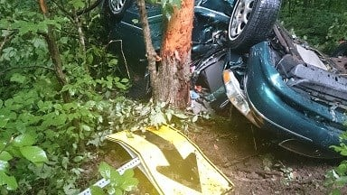 Scene of fatal crash on SR 62 in Crawford Co., Ind., Tuesday. Crawford Co. Sheriff's Dept. photo