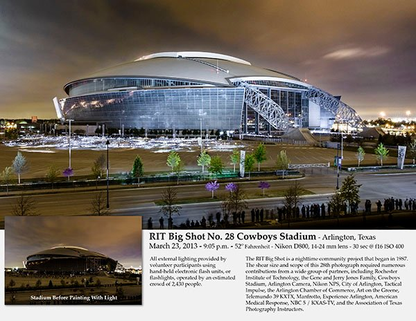 The RIT Big Shot project image from AT&T Stadium in Texas. Rochester Institute of Technology photo.