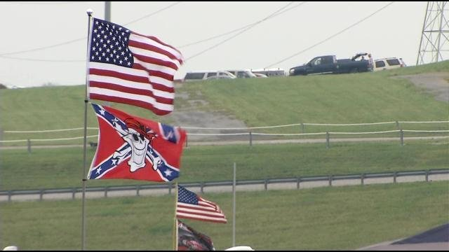 While the Confederate flag was taken down from the ground of South Carolina's capitol in Columbia, some people in Kentucky are keeping their flags flying high.