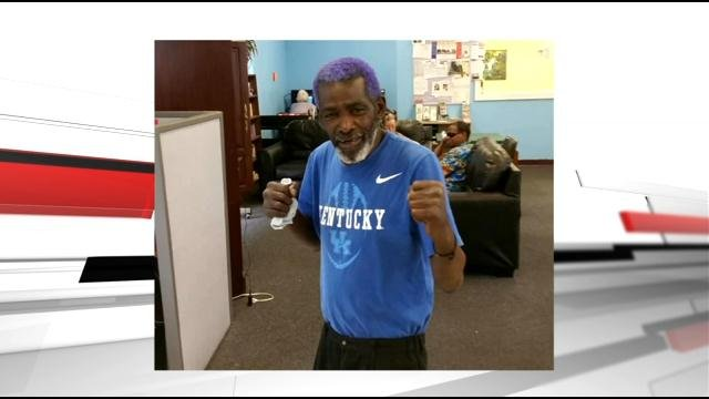 Christopher 2x 65-year-old Fred Baker was battling cancer, and was posing in that stance to show that he could fight it.