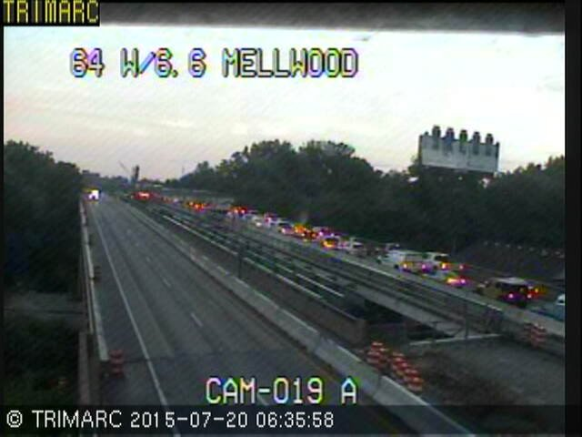 Traffic was backed up to Mellwood by 6:45 a.m.