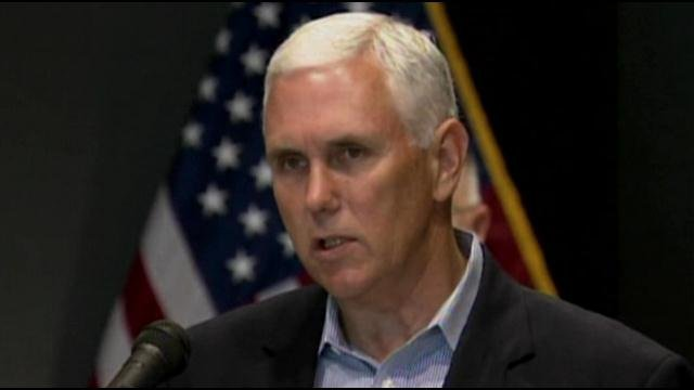 Indiana Gov. Mike Pence says he won't let Guardsmen be unable to defend themselves and others at facilities in the state.