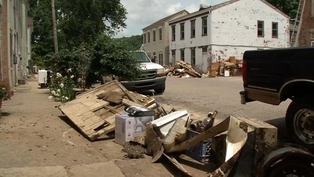 Flooding in Madison has been taking a toll on residents of the small, riverside town in Indiana.