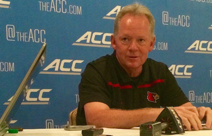 U of L coach Bobby Petrino. (WDRB photo by Eric Crawford.)