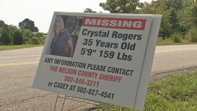 Signs are everywhere in Bardstown as the community prays for Crystal Rogers' safe return.