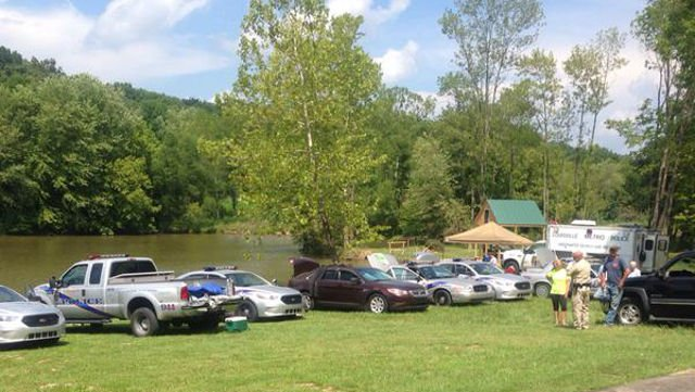 Members of the LMPD dive team searchedMelody Lake in Nelson County Tuesday, but officials said they came up empty handed.