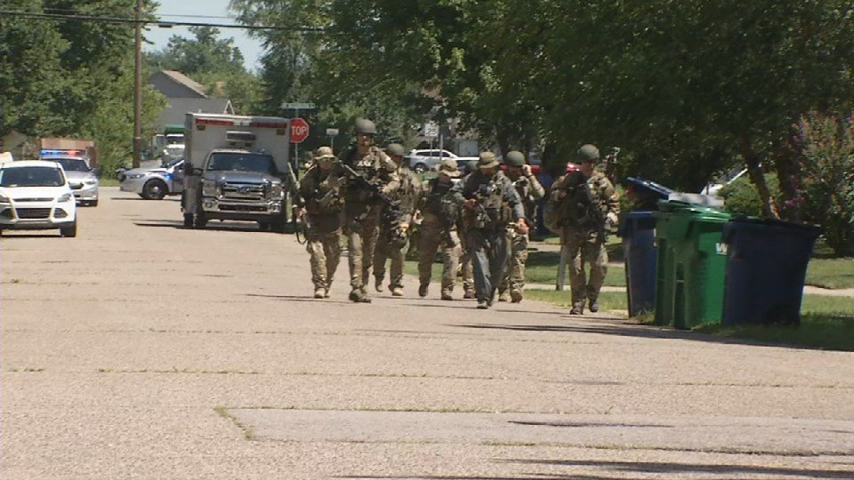 LMPD's SWAT Team was called in to help apprehend a robbery suspect in Bullitt County Thursday afternoon.