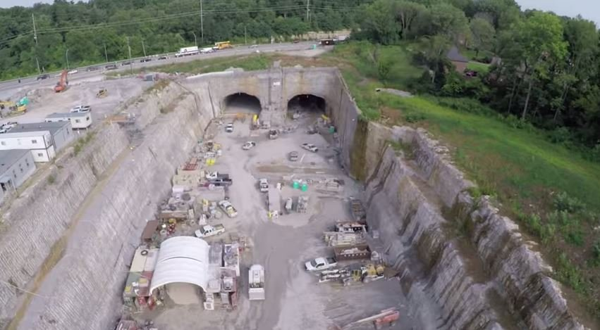 The Ohio River Bridges Project just released new aerial videos highlighting its progress (Source: Ohio River Bridges Project YouTube).