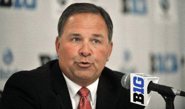 Indiana football coach Kevin Wilson at Big Ten Media Day. (AP photo)