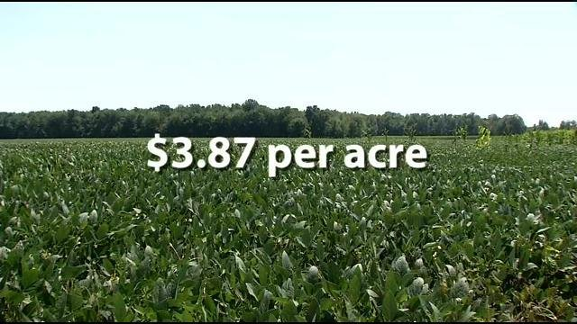 The proposal could potentially tax $3.87 per acre on farmland. Yeager says that's a heavy burden.