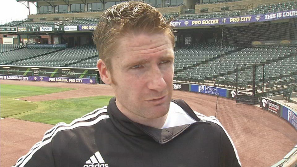 Louisville City FC head coach James O'Connor speaks about the Montreal match at Louisville Slugger Field Tuesday, Aug. 4, 2015.