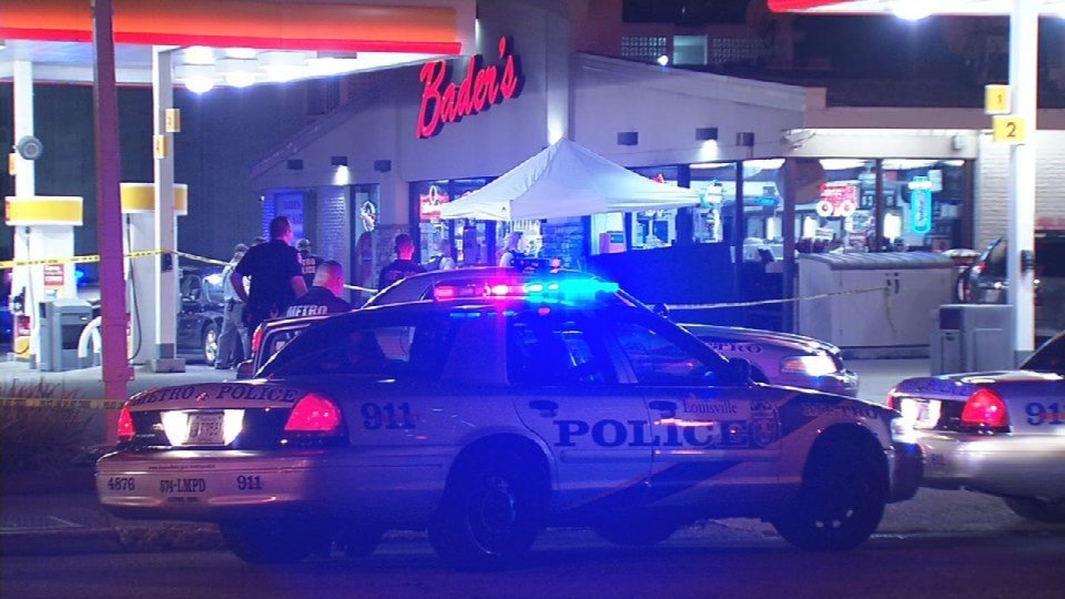 Five officers were at the Bader's food mart on a break -- two were outside the store and three were inside the store – when the incident happened, according to Chief Conrad.