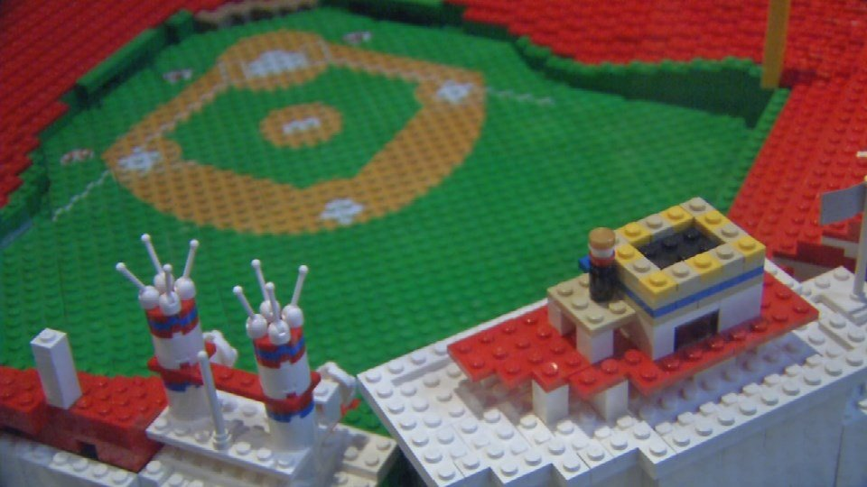 There's also a re-creation of Great American Ballpark that uses 5,000 Lego bricks.