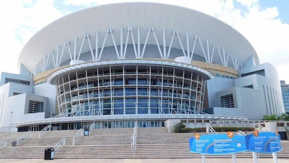 The Coliseo de Puerto Rico, where the University of Louisville will face Puerto Rico on Monday and Tuesday nights. (WDRB photo by Eric Crawford)