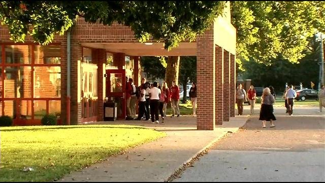 Students at Ramsey Middle School filed into the building early Wednesday as JCPS classes resumed for the 2015-2016 school year.