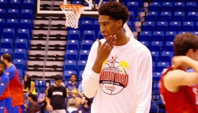 Louisville freshman Raymond Spalding. (WDRB photo by Eric Crawford)