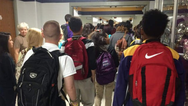 JCPS says 97,000 students went back to class at more than 150 schools Wednesday.