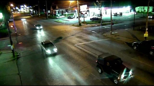 Police relieved images of the white Chevy Impala leaving the scene.The driver never stopped.