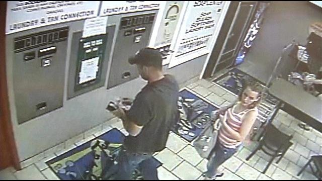 Police aren't sure how the suspects are able to do it, butfrom the video it looks like they've attached something to the $20 bill to pull it back out of the machine.