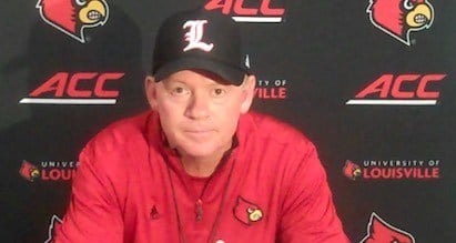Louisville coach Bobby Petrino is not ready to name his starting quarterback.