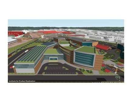 Conceptual rendering of Belknap Engineering and Applied Sciences Research Park, University of Louisville
