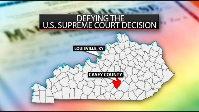 Casey County Clerk Casey Davis says his conscience does not allow him to do soand he'sreceived hundreds of supportive letters and emails --alongsidemanythreats.
