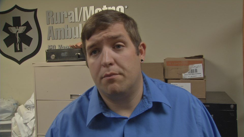 Eric Burr is taking advantage of the free training to become an EMT and says he has always been interested in helping people.