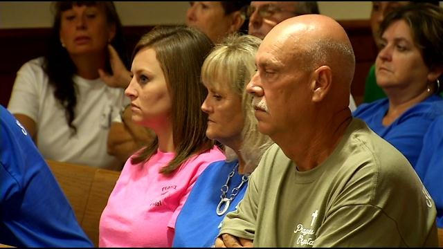 Tommy and Sherry Ballard in a custody hearing Wednesday, they say they haven't seen their grandson since before their daughter disappeared.
