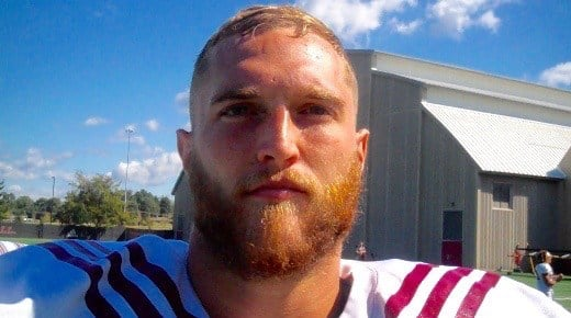 Tackle Jason Spriggs is part of an Indiana offensive line considered one of the nation's best.