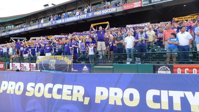 9,434 fans showed up to cheer on Louisville City FC against Orlando City SC in the summer of 2015 (Photo by Eric Crawford).